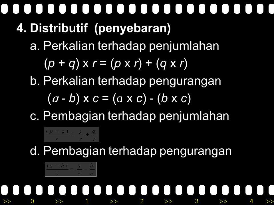 4. Distributif (penyebaran) a