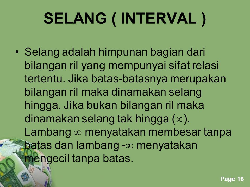 SELANG ( INTERVAL )