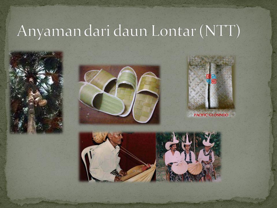 Anyaman dari daun Lontar (NTT)