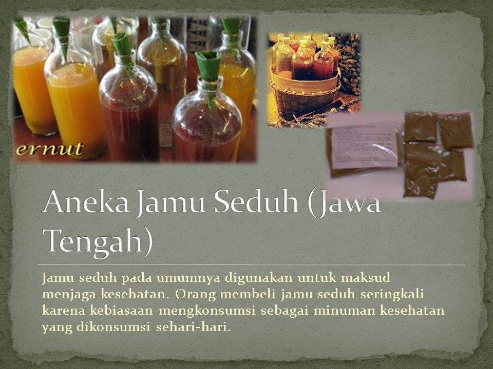 Aneka Jamu Seduh (Jawa Tengah)