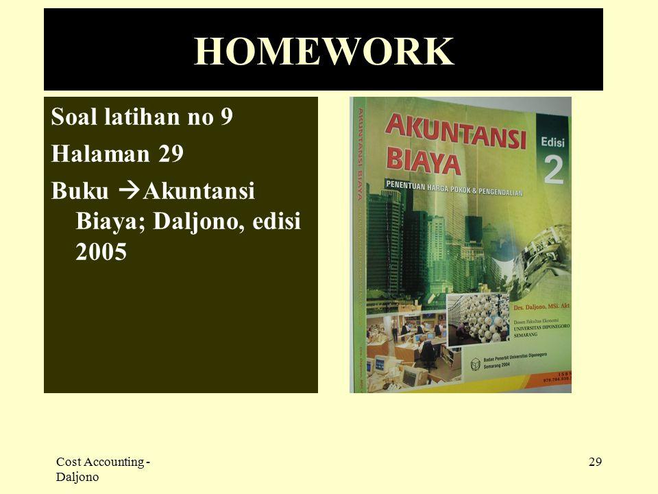 HOMEWORK Soal latihan no 9 Halaman 29