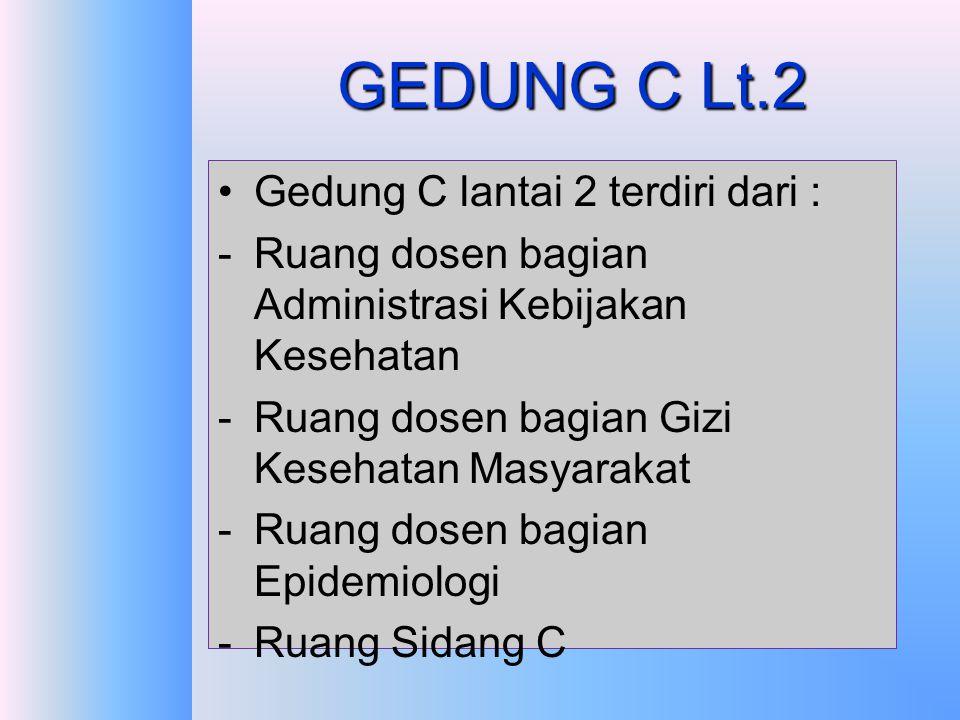 GEDUNG C Lt.2 Gedung C lantai 2 terdiri dari :