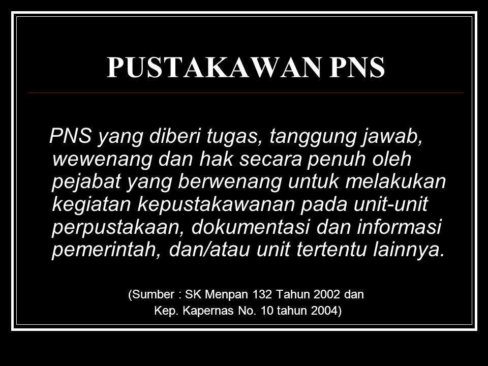 (Sumber : SK Menpan 132 Tahun 2002 dan