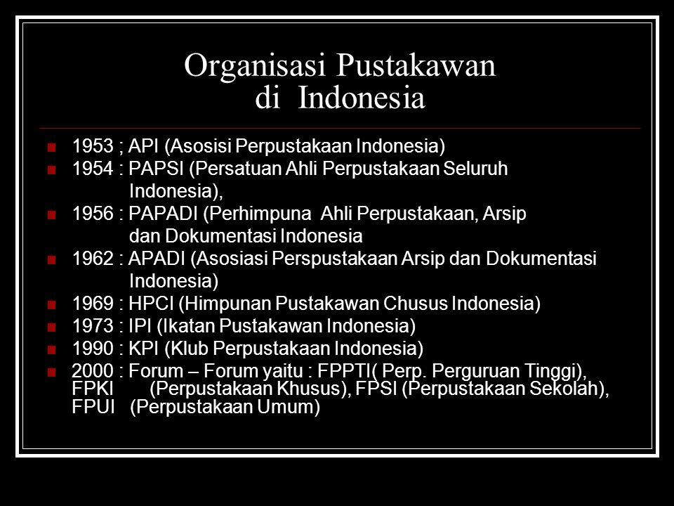 Organisasi Pustakawan di Indonesia