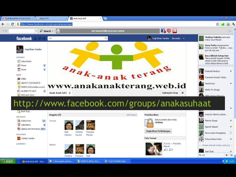 http://www.facebook.com/groups/anakasuhaat