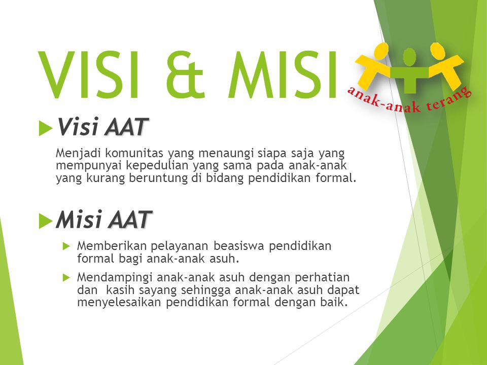 VISI & MISI Visi AAT Misi AAT