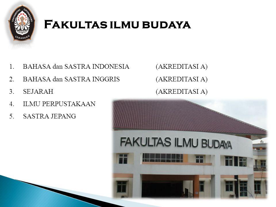 Fakultas ilmu budaya BAHASA dan SASTRA INDONESIA (AKREDITASI A)