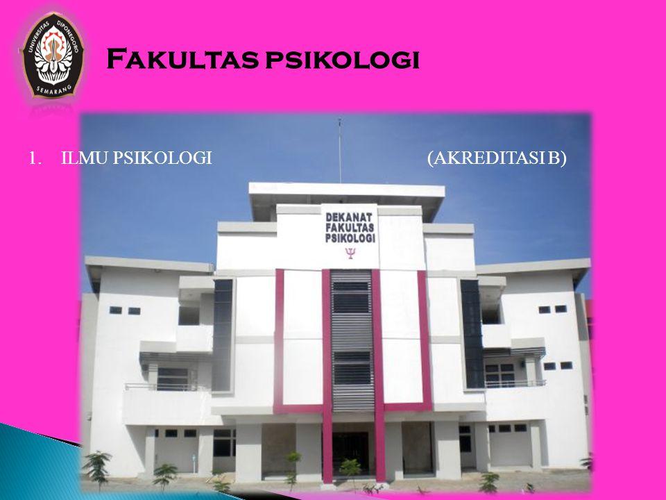 Fakultas psikologi ILMU PSIKOLOGI (AKREDITASI B)