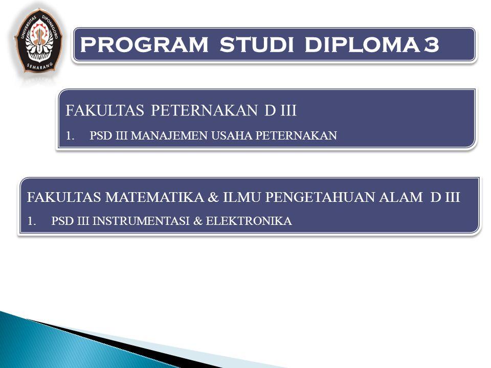 PROGRAM STUDI DIPLOMA 3 FAKULTAS PETERNAKAN D III