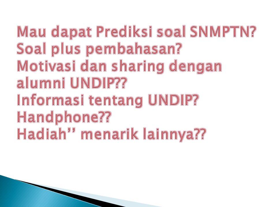 Mau dapat Prediksi soal SNMPTN. Soal plus pembahasan