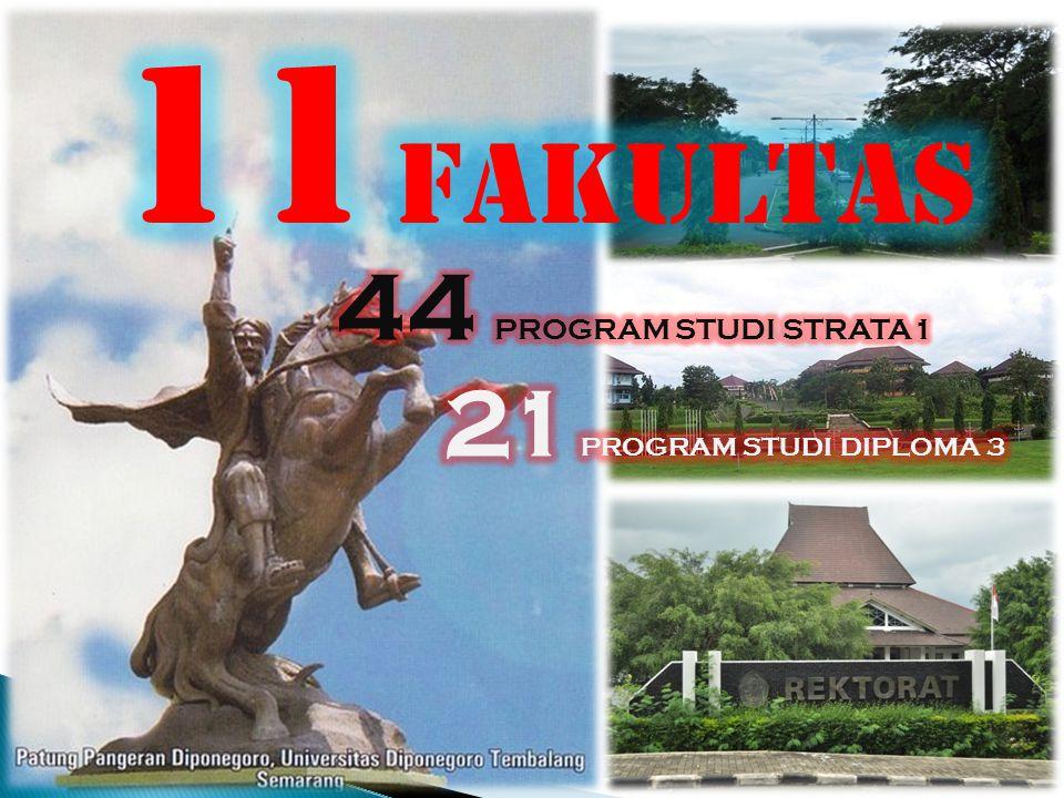 11 FAKULTAS 44 PROGRAM STUDI STRATA1 21 PROGRAM STUDI DIPLOMA 3