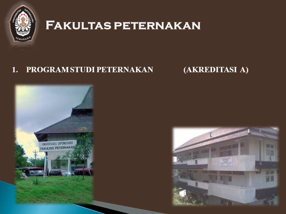Fakultas peternakan PROGRAM STUDI PETERNAKAN (AKREDITASI A)