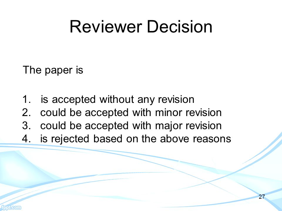 Reviewer Decision is accepted without any revision