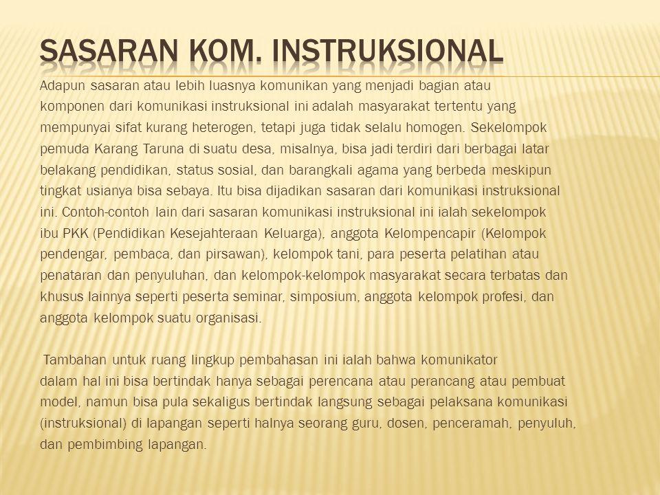SASARAN KOM. INSTRUKSIONAL