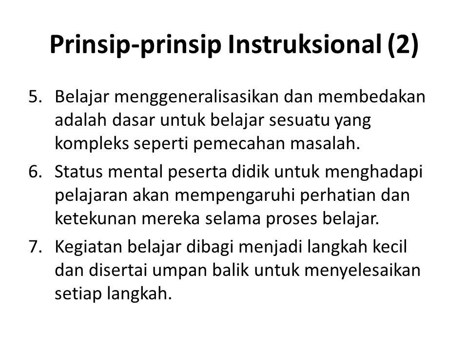 Prinsip-prinsip Instruksional (2)