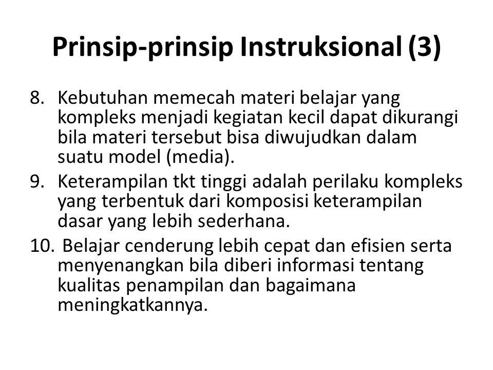 Prinsip-prinsip Instruksional (3)