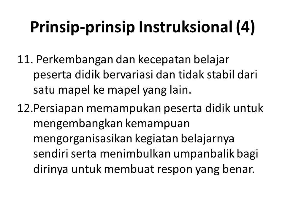 Prinsip-prinsip Instruksional (4)