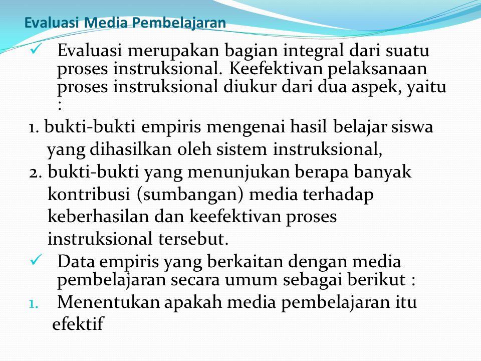 Evaluasi Media Pembelajaran