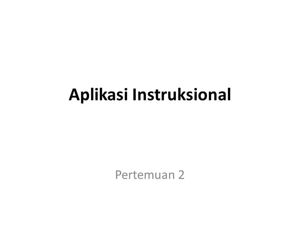 Aplikasi Instruksional