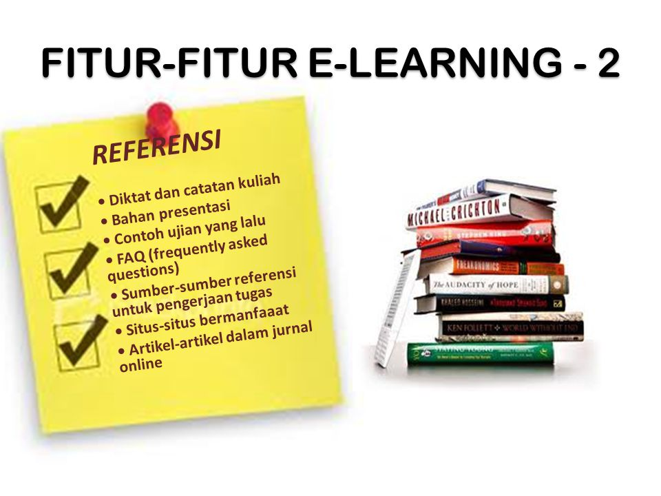 FITUR-FITUR E-LEARNING - 2