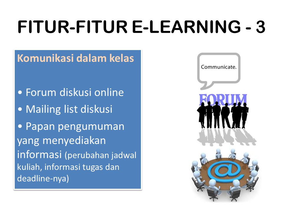 FITUR-FITUR E-LEARNING - 3
