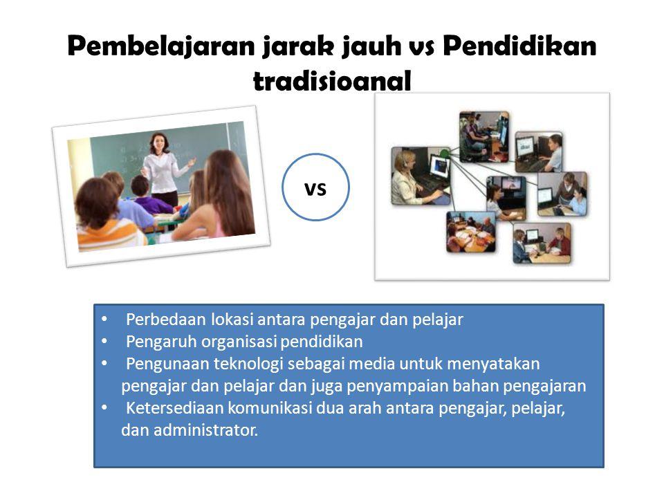 Pembelajaran jarak jauh vs Pendidikan tradisioanal