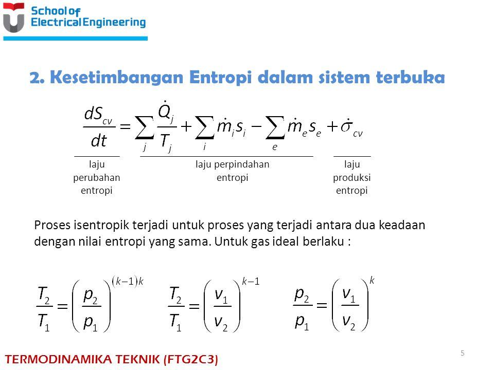 2. Kesetimbangan Entropi dalam sistem terbuka