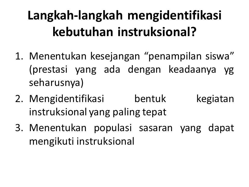 Langkah-langkah mengidentifikasi kebutuhan instruksional