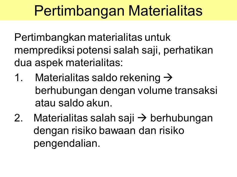 Pertimbangan Materialitas