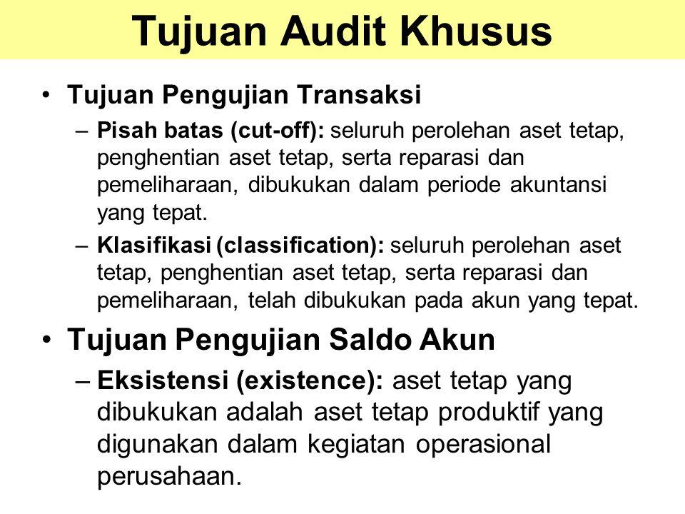 Tujuan Audit Khusus Tujuan Pengujian Saldo Akun