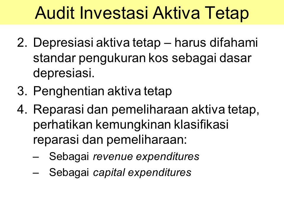Audit Investasi Aktiva Tetap