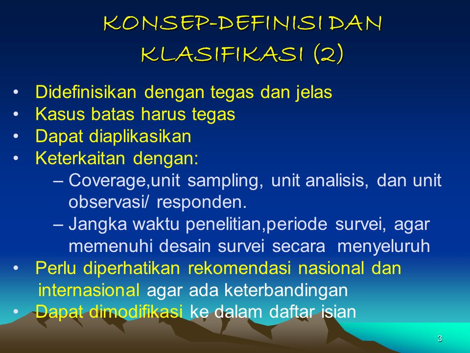 KONSEP-DEFINISI DAN KLASIFIKASI (2)