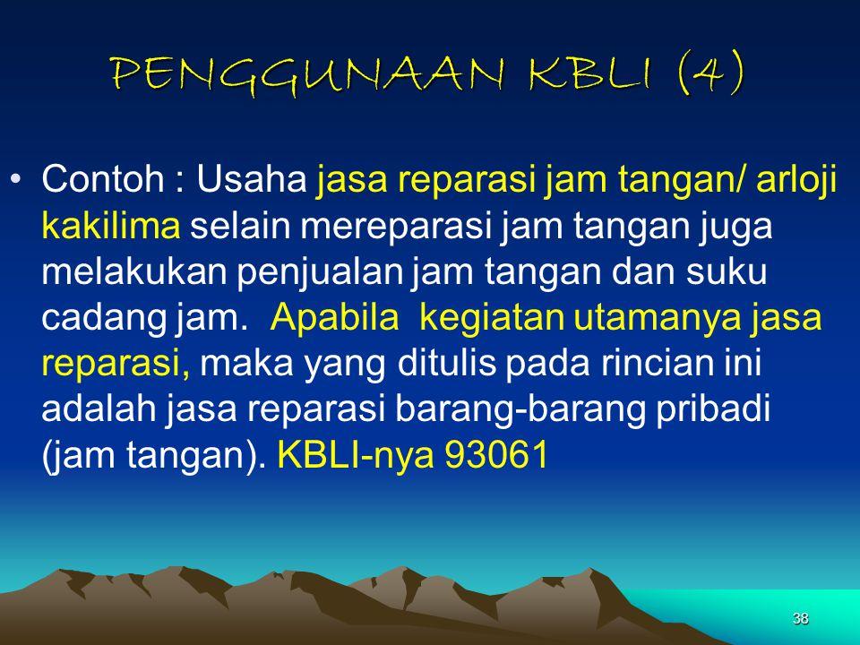 PENGGUNAAN KBLI (4)