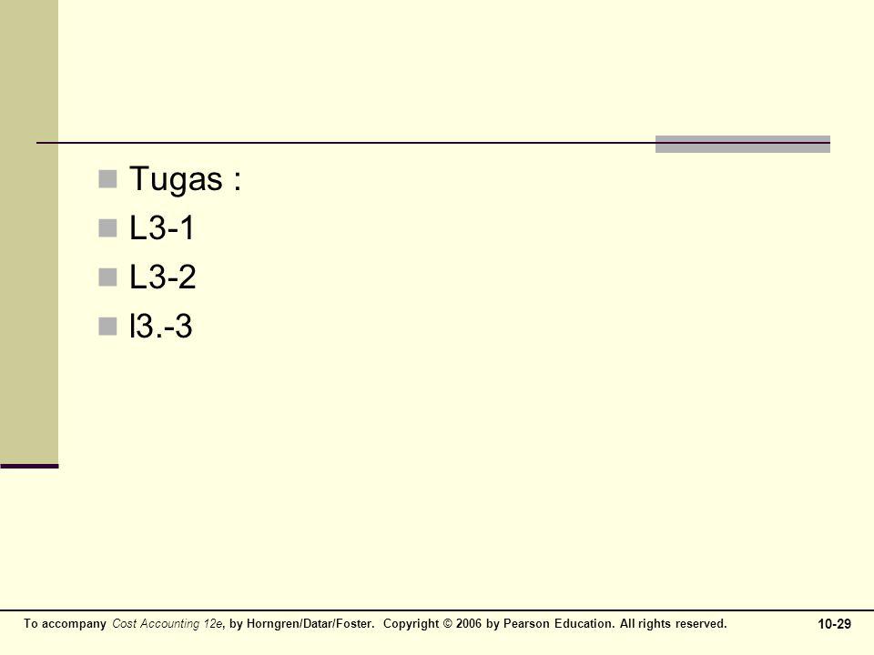 Tugas : L3-1 L3-2 l3.-3