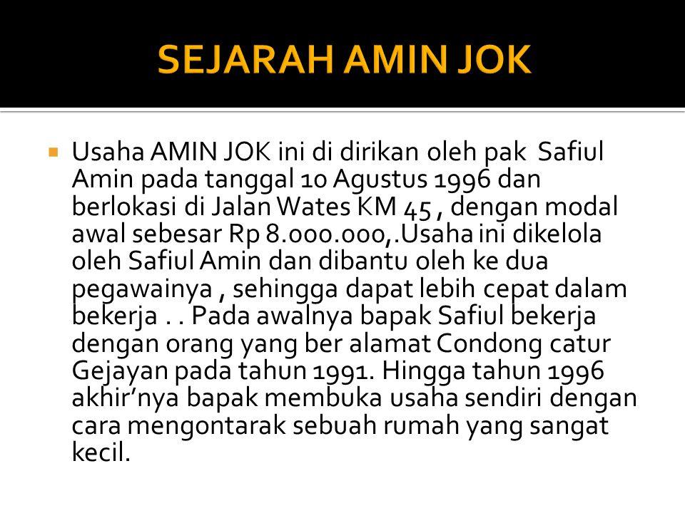 SEJARAH AMIN JOK