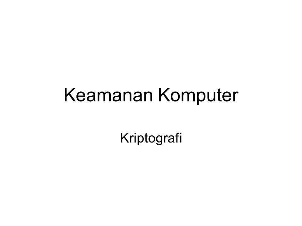 Keamanan Komputer Kriptografi