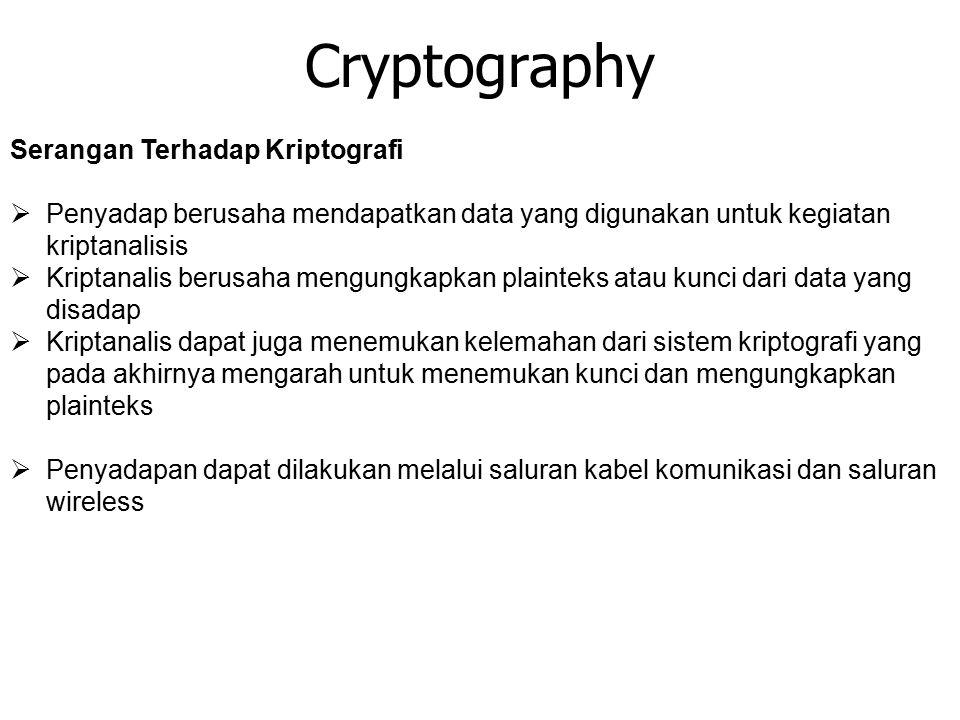 Cryptography Serangan Terhadap Kriptografi