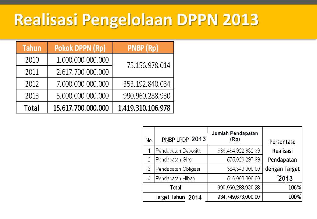 Realisasi Pengelolaan DPPN 2013
