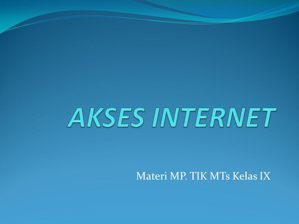 Materi MP. TIK MTs Kelas IX