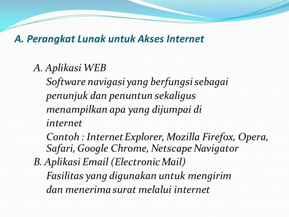A. Perangkat Lunak untuk Akses Internet