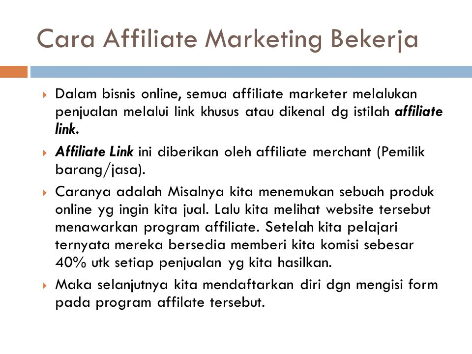 Cara Affiliate Marketing Bekerja