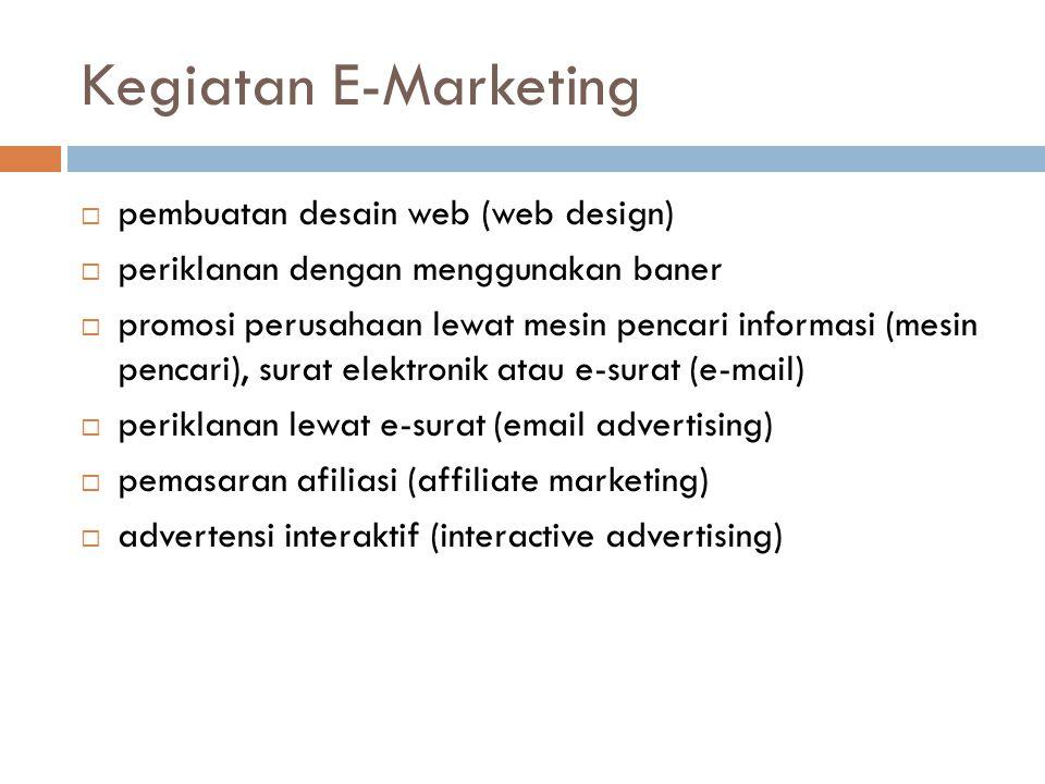 Kegiatan E-Marketing pembuatan desain web (web design)