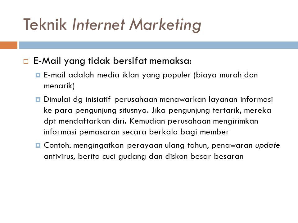 Teknik Internet Marketing