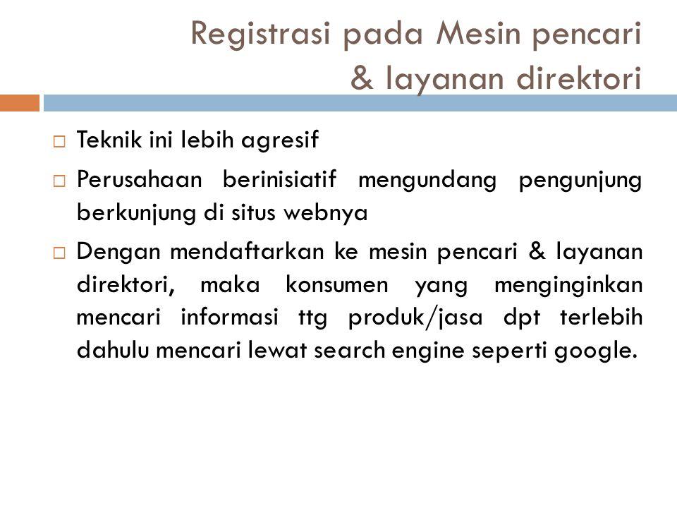 Registrasi pada Mesin pencari & layanan direktori
