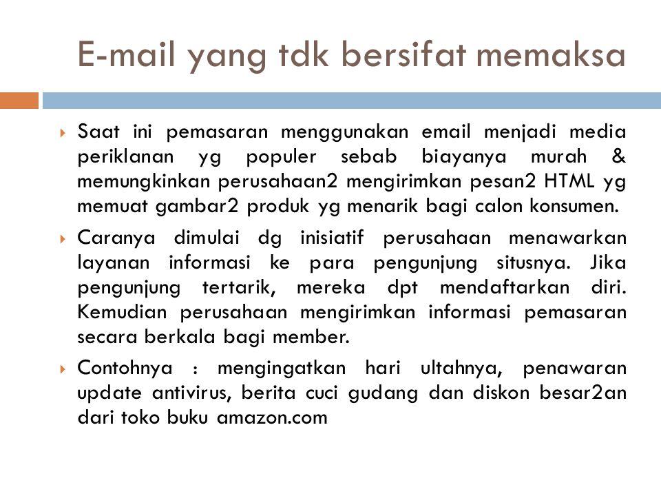 E-mail yang tdk bersifat memaksa