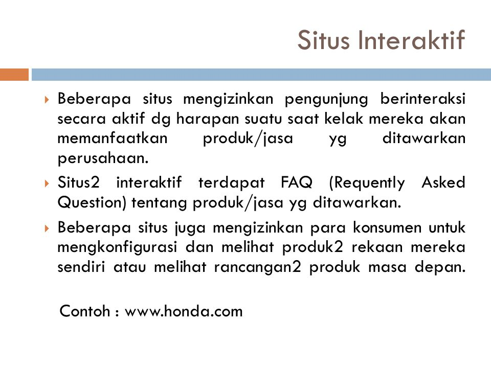 Situs Interaktif