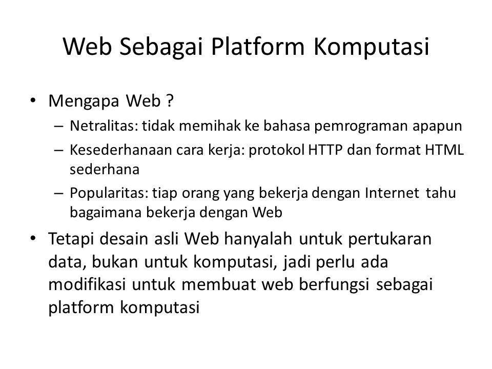 Web Sebagai Platform Komputasi