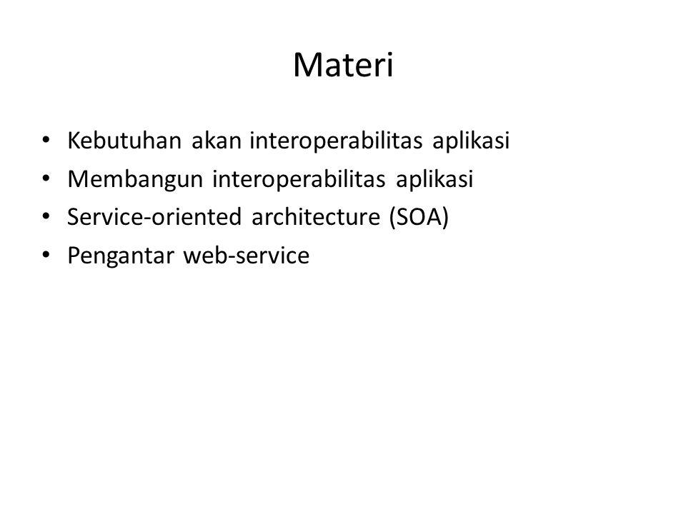Materi Kebutuhan akan interoperabilitas aplikasi