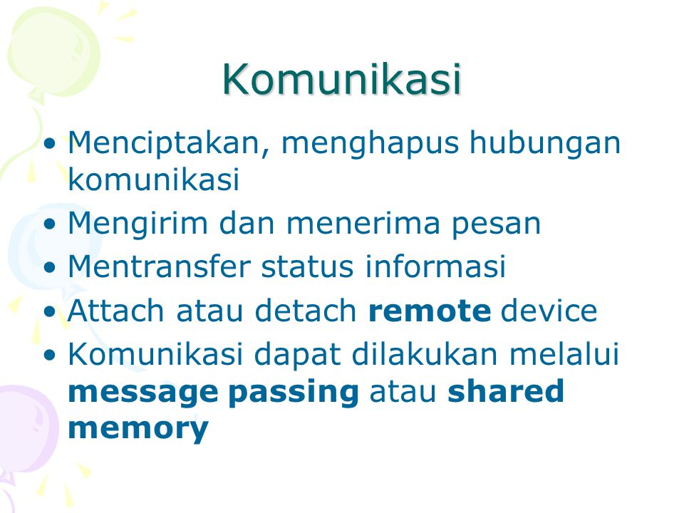 Komunikasi Menciptakan, menghapus hubungan komunikasi