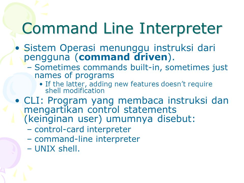 Command Line Interpreter